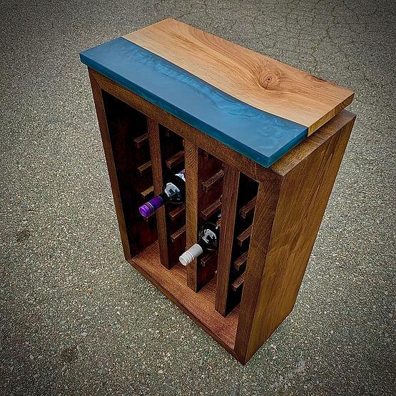 furninture titled SOLD - Ocean Wine Rack by artist benjamin mclaughlin.