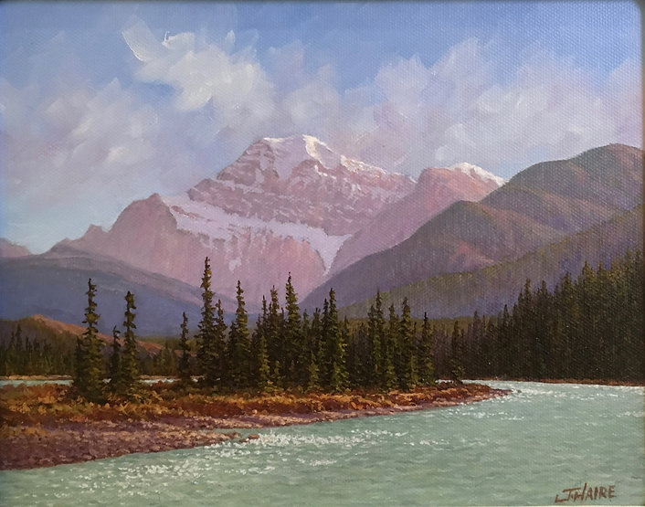 multi-colour oil painting titled SOLD Edith Cavell by artist joe haire.