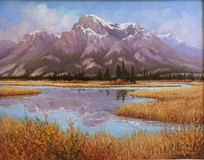 multi-colour oil painting titled SOLD - Fresh Autumn Day -Jasper by artist joe haire.
