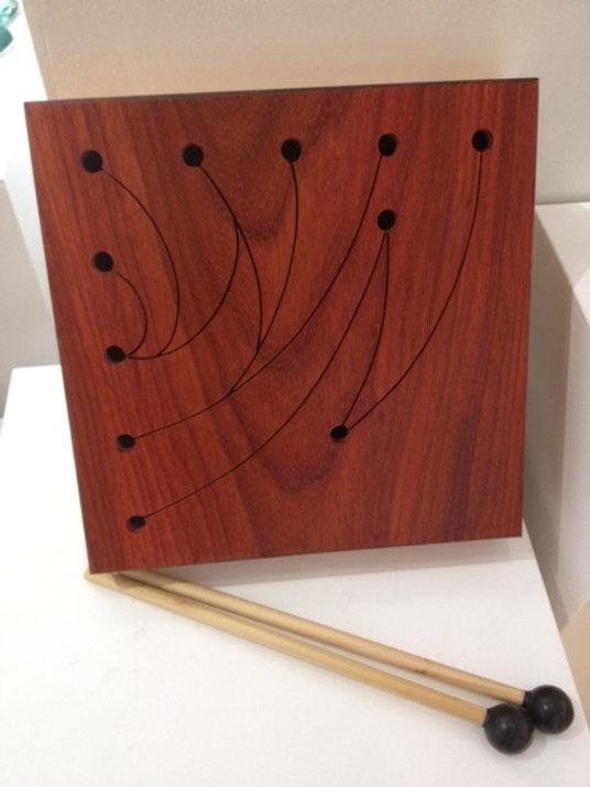 furninture titled SOLD- Square Oak Talking Drum by artist benjamin mclaughlin.