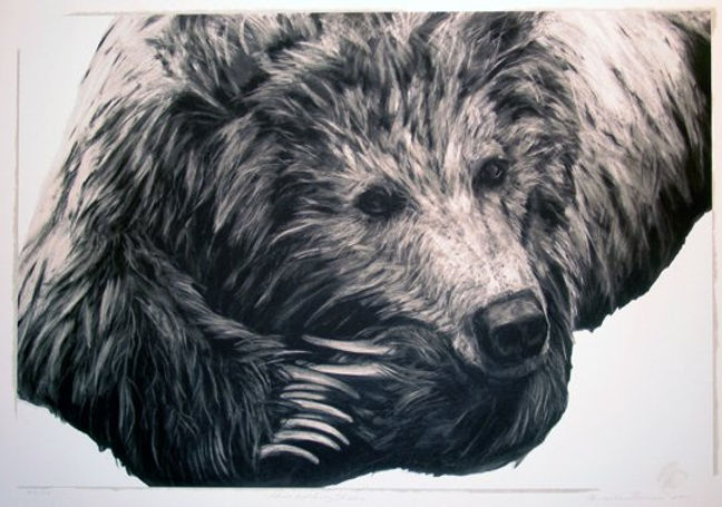 Digital Archival Printing titled Chico Watching Charlie' by artist maureen enns