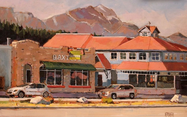 multi-colour arcylic painting titled Baxters by artist randy hayashi.