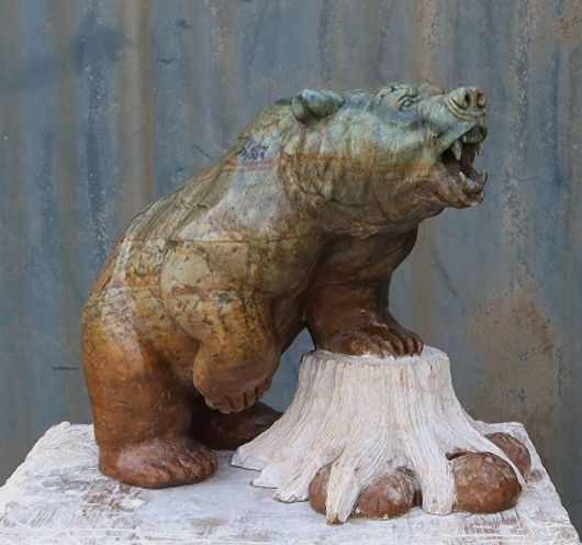 brazilian soapstone sculptor titled North Bear by sculptor andrew gable.