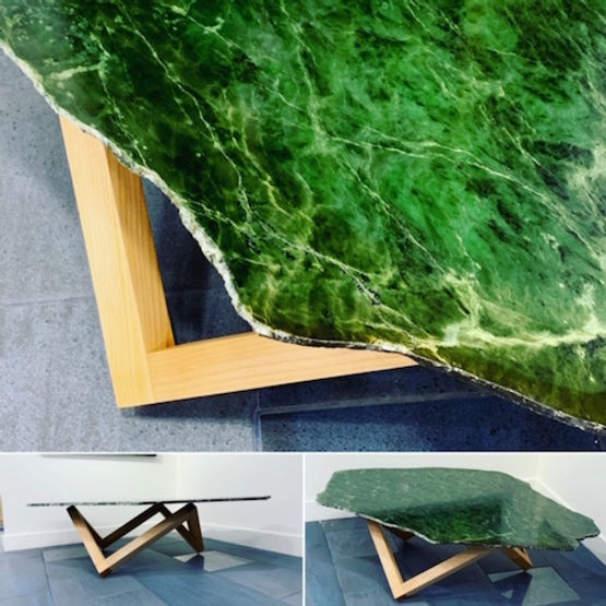 furninture titled BC Empress Jade coffee table by artist benjamin mclaughlin.