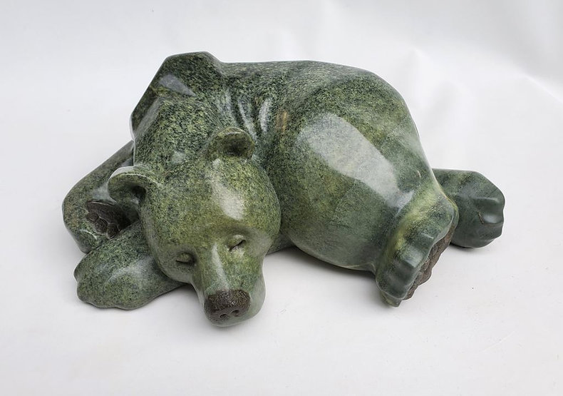 brazilian soapstone scupture titled Good Vibes by sculptor roy hinz.