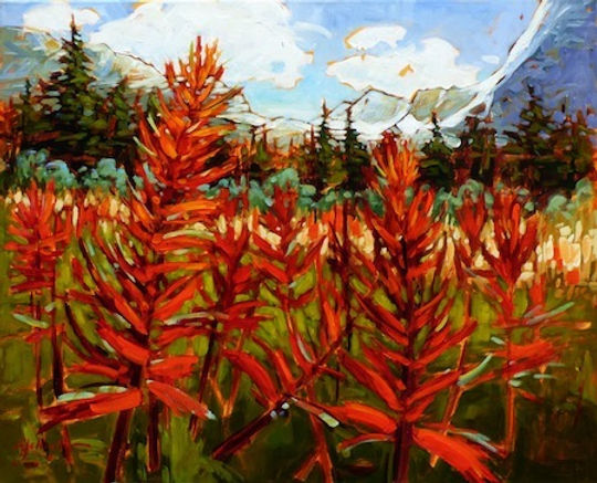 multi-colour acrylic painting titled Wildflower Journey by artist gail johnson.