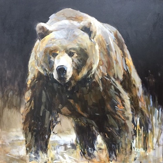 multi-colour acrylic painting titled Into Wild by artist andrea moore.