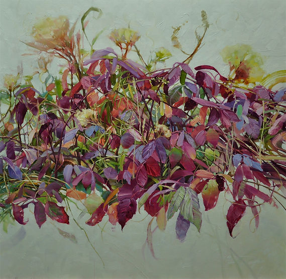 multi-colour oil painting titled Sweet as Pie by artist wendy bermingham