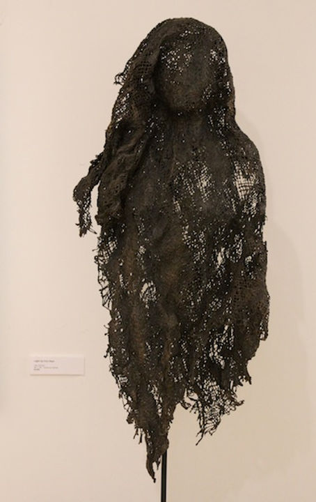 mixed media sculpture titled Shroud #27 by artist camie geary-martin.
