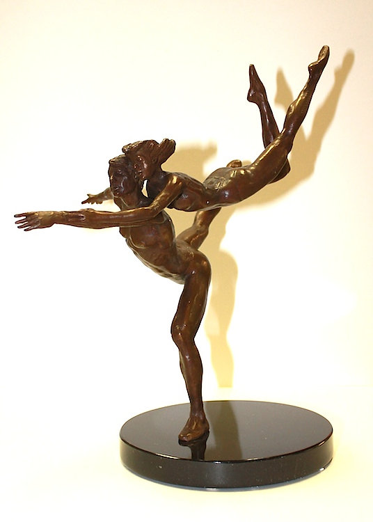 bronze sculpture titled Life Journey' by andrew benyei