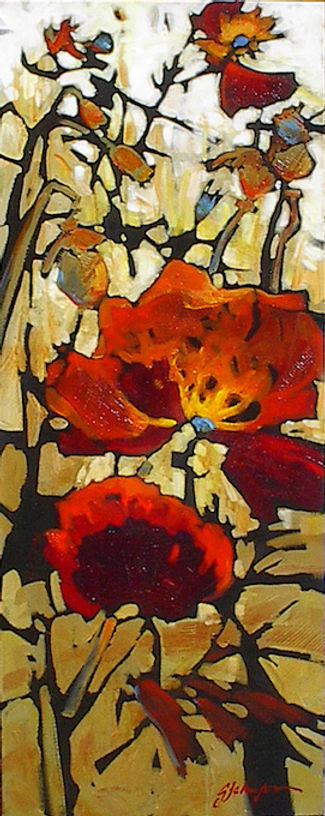 multi-colour acrylic painting titled Step Into Your Life by artist gail johnson.