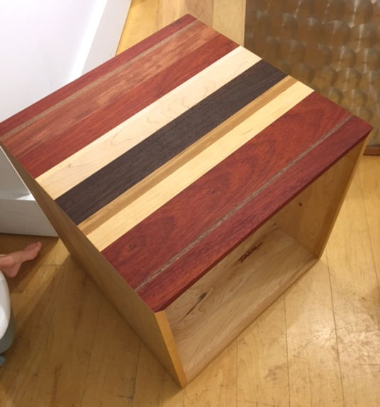 furninture titled SOLD-Side Table Cube by artist benjamin mclaughlin.