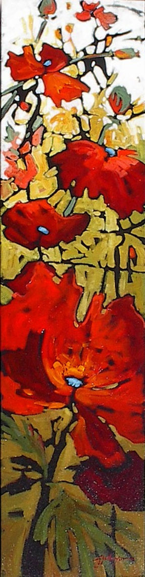 multi-colour acrylic painting titled Grace Note by artist gail johnson.