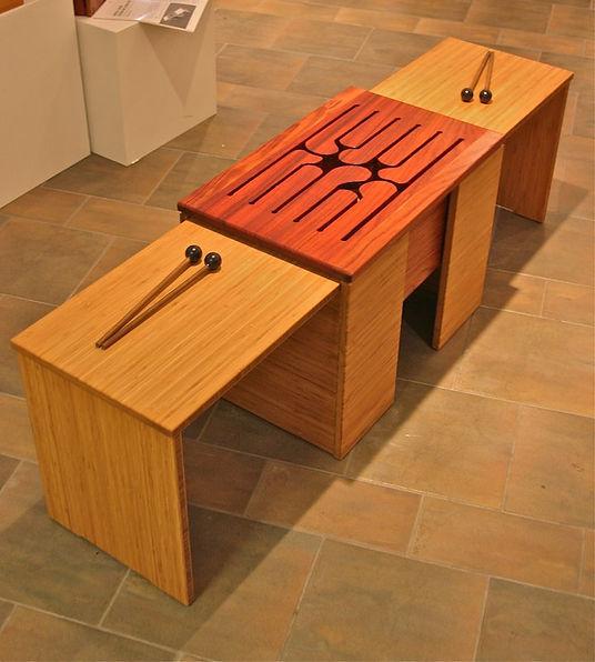 furninture titled Ubuntu: Sound Resonating Furniture by artist benjamin mclaughlin.
