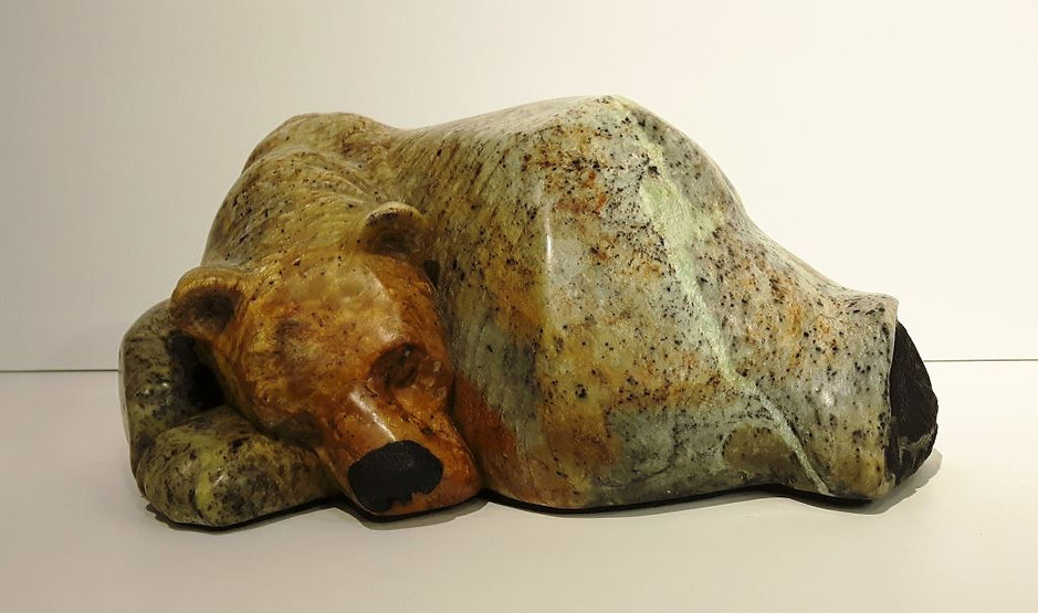 soapstone scupture titled SOLD - Rundle Lounge by sculptor roy hinz.