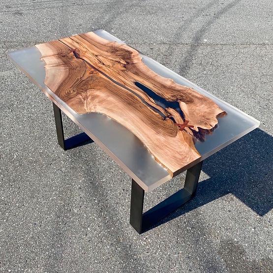 furninture titled SOLD-Wood & Resin Desk by artist benjamin mclaughlin.