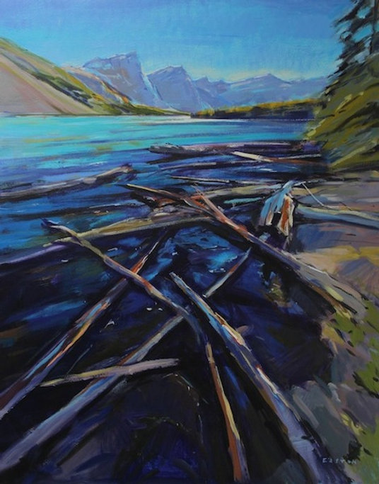 multi-colour arcylic painting titled SOLD-The Morning Shift by artist charlie easton