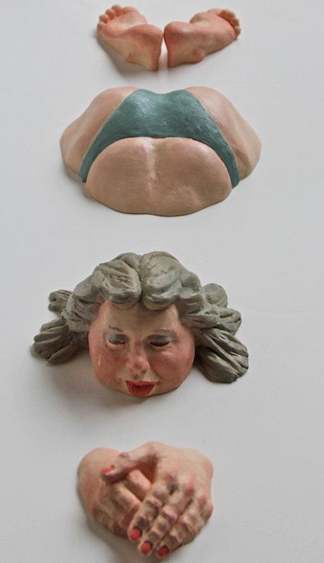 polyurethane sculpture titled Jennifer' by andrew benyei