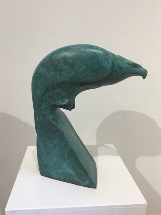 bronze sculpture titled SOLD-Lift Off, Osprey by sculptor cathryn jenkins.