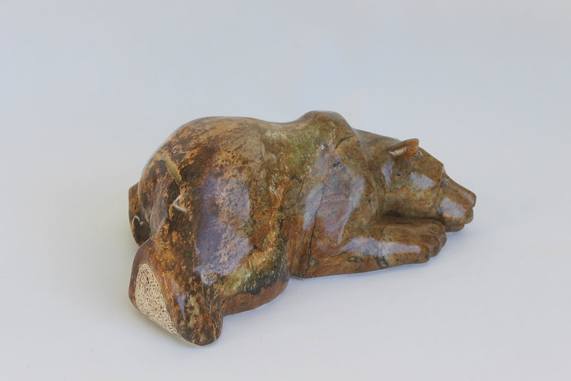 soapstone scupture titled SOLD- Teddy by sculptor roy hinz.
