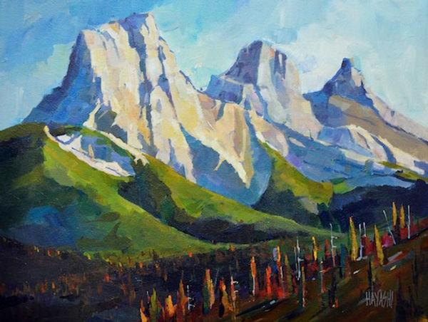 multi-colour arcylic painting titled Big Sister Faith by artist randy hayashi.