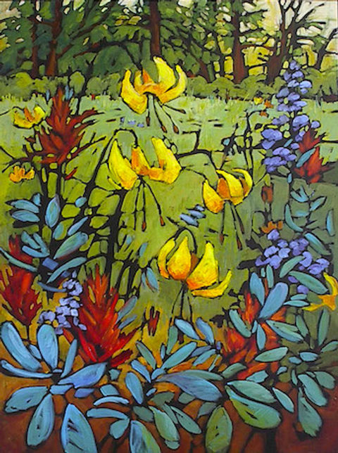 multi-colour acrylic painting titled SOLD - Gifts In Your Life by artist gail johnson.