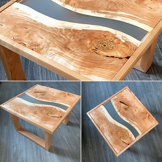 furninture titled Maple/Resin Coffee Table by artist benjamin mclaughlin.