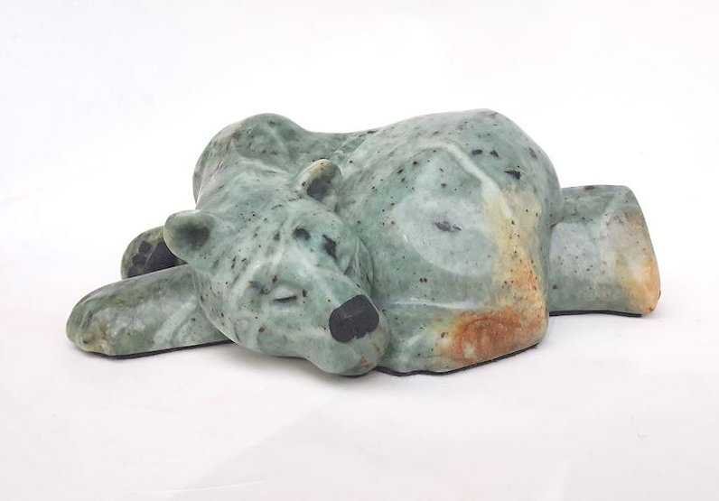 brazilian soapstone scupture titled SOLD A Wrinkle in Time by sculptor roy hinz.
