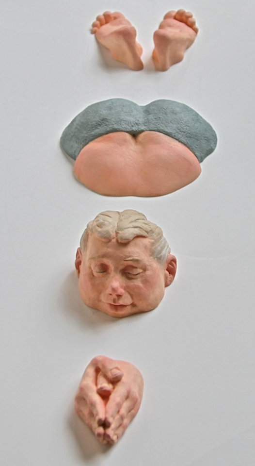 polyurethane sculpture titled Mike' by andrew benyei