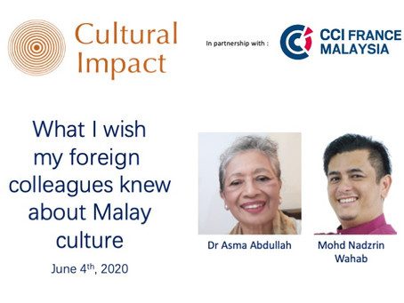 CI In conversation with #1:  What I wish my Malay colleagues knew about Malay culture
