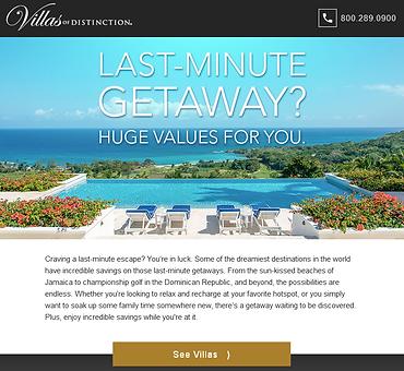 Villas of Distinction Email