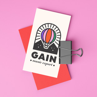 GAIN MUSIC EXPORT / LOGO DESIGN