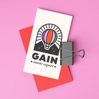 GAIN MUSIC EXPORT / LOGO DESIGN