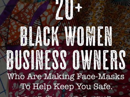 20 Black Women making Face Masks