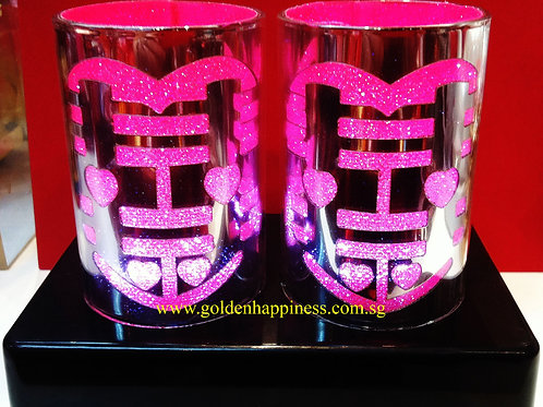 Silver Double Happiness Lamp LA-07