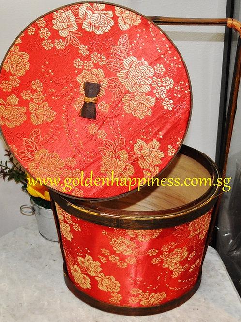 Silk wooden basket B02