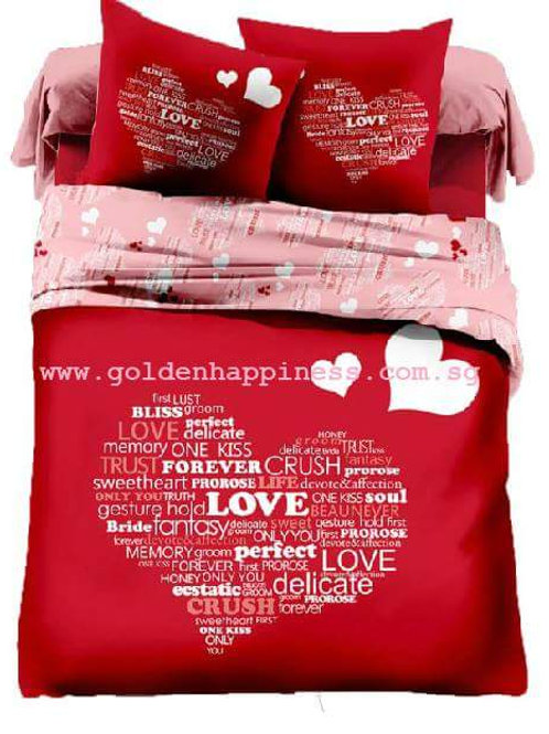 Love With Words Bedsheet BS-05