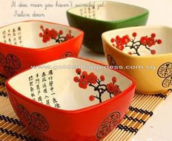 Oriental double happiness bowlOBL-01