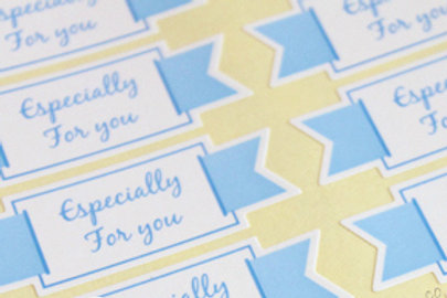 Tiffany Blue 'Especially for you' Stickers FP-18