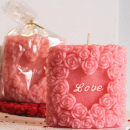 Rose Pillar Candle WCF-18