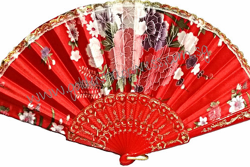 Red Lacy Spanish Inspired Fan