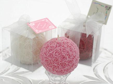 Mini Rose Ball Candle WCF-13