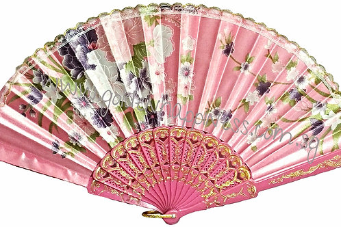 Pink Lacy Spanish Inspired Fan