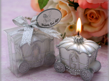 Silver Carriage Candle WCF-10