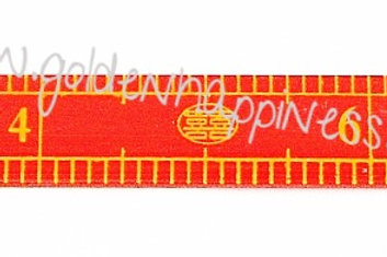 Red Ruler for Hair Combing