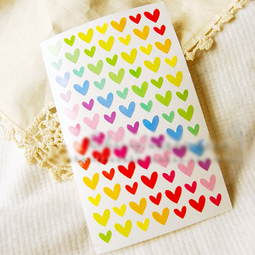 Rainbow Heart Stickers FP-17