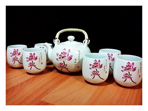 Purple Lotus Teapot Set