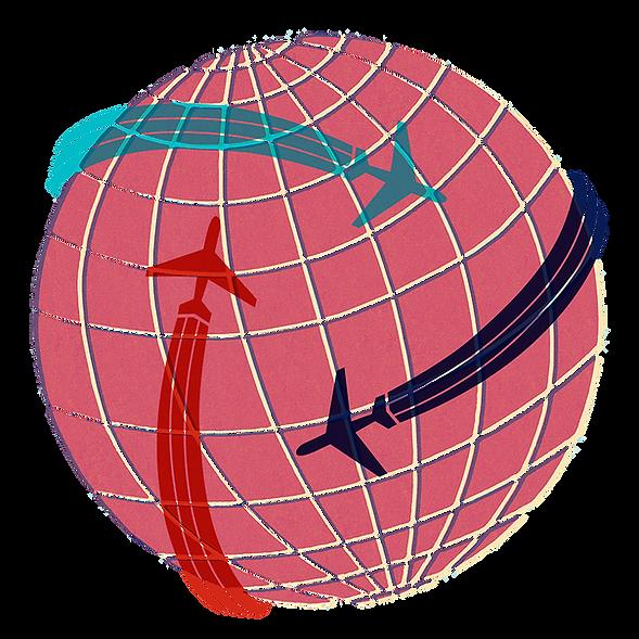 GLOBE flight path graphic
