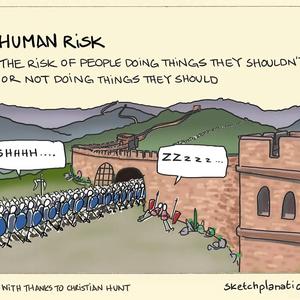Human Risk in a sketch