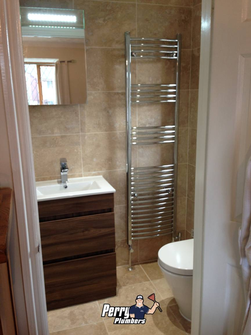Ensuite renovation - Partridge Green